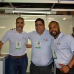 Paulo Barnabé, Paulo César e Maurício Anias, da Flytour MMT Viagens