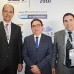 Régis Medeiros, secretário de Turismo de Fortaleza, Manoel Linhares, da ABIH Nacional, e Rodrigo Pereira, da Setur Fortaleza
