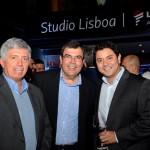 Ricardo Pacci, da Tyller, Vanderlei Fogueral, da LTS, e Antenor Soares, da Latam