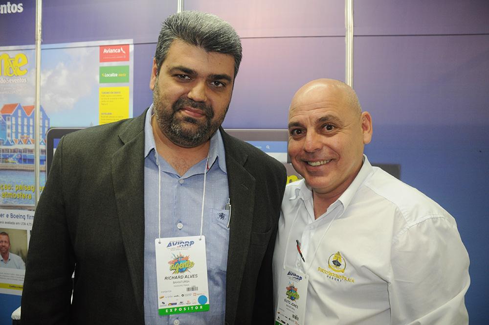 Richard Alves, secretário de Turismo de Porto Seguro, e Guto Jones, do Porto Seguro Praia Resort