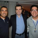 Roberto Barcelar, do Clube Montreal, com Sergio Reis e Jardel Almeida, da Trend,