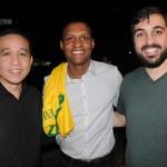 Rodrigo Katayama, do Espaço VIP, Everton Laan, da Condor Turismo, e Luis Otero, da CGR Viagens
