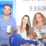 Rogério Fontana, Poliana Vieira e Cacilda Magalhães, os três primeiros colocados na campanha Azul da Cor do mar de Alagoas