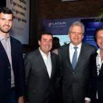Rubens Schwartzmann, da Costa Brava, Ivo Lins, da Flytour MMT Viagens, Edmar Bull, da Copastur, e Bernardo Cardoso, do Turismo de Portugal