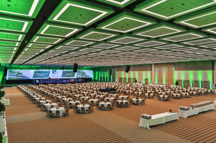Salão Monumental configuração banquete do Royal Palm Hall