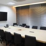 Sala de reunião do novo escritório da American Airlines