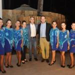 Secretários de Turismo de Alagoas Rafael Brito, e de Maceió, Jair Galvão, com equipe do Luck Receptivo