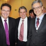 Vinicius Lummertz, ministro do Turismo, Luis Eduardo Falco, da CVC Corp, e Marco Ferraz, da Clia Brasil