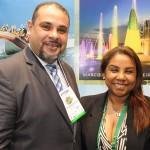 Washington Sena, diretor de Marketing, e Neumari Cristhine, da secretaria de Turismo de Foz do Iguaçu