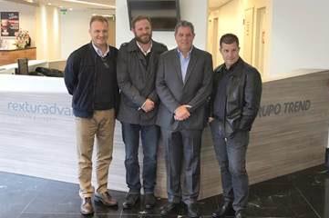 Falco e Fogaça dão às boas vindas à equipe da TREND ao lado de Luis Paulo Luppa e Luciano Guimarães
