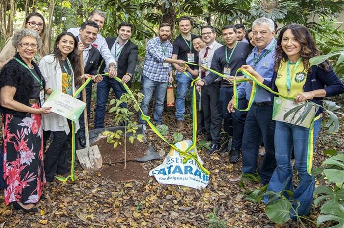 Festival das Cataratas e parceiros reafirmaram seus compromissos socioambientais durante o evento, em junho (Foto: Jean Pavão)