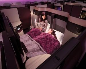 Qatar Airways anuncia chegada da Qsuite na América do Sul em dezembro
