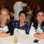 Adriana de Carvalho, da Abeoc, Cristina Fritch, da Abav-RJ, e Fátima Facuri, da Abeoc