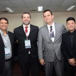Adriano Pereira, Edmilson Romão e Felipe Akagawa, da Abav-SP, com Marcelo Oliveira, da Abav Nacional