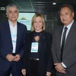 Alberto Alves, e Vanessa Mendonça, do Ministerio do Turismo, e Jaime Okamura, secretário adjunto de Turismo do Mato Grosso