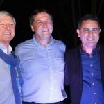 Alejandro Rubin, diretor do Termatalia, Chico Brasileiro, prefeito, e Gilmar Piolla, secretário de Turismo de Foz do Iguaçu