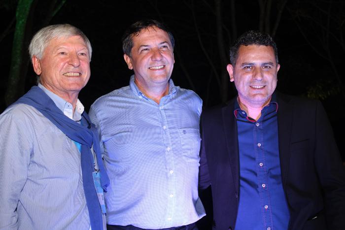 Alejandro Rubin, da Termatalia com o prefeito Chico Brasileiro e o secretário Gilmar Piolla