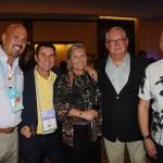 Alfredo Gonzalez, da AG Hospitality, Claudio Dasilva, da BrazilTM, Rosa Masgrau e Roy Taylor, do M&E, e Luis Calle, da Camar