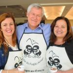 Andrea Revoredo e Marcia Pessoa, do RioCVB, com Lucio Macedo, da Riotur