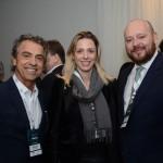 Antonio Setin e Bianca Setin, da Setin Incorporadora, e Abel Castro, da Accor Hotels