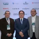 Ari Giorgi, da AGF Consultoria de Hotéis, Manoel Linhares, da ABIH Nacional, e Toni Sando, do SPCVB