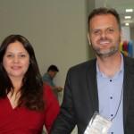 Celia Andrade, da secretaria de Turismo de Foz, com Daniel Marques, da Setur-MG