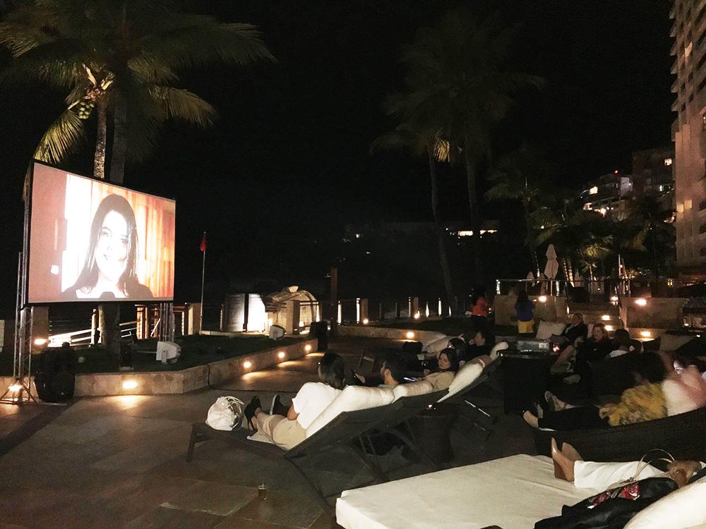 Cinema ao ar Livre no Marriott