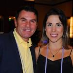 Claudio Dasilva, da BrazilTM, e Marcela Miranda, da Azul Magazine