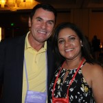 Claudio Dasilva, do BrazilTM, e Marisol Berrios, de Tampa Bay