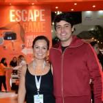 Cristiane Yumi, da Movida, e Bruno De Lucca