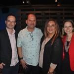 Daniel Rocha, Ney Neves e Flavia Fernandes, da AMResorts, com Rosy Domínguez, do Dreams Riviera Cancun