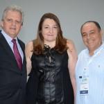 Edmar Bull, da Copastur, Magda Nassar, presidente da Braztoa, e Geraldo Rocha, presidente da Abav Nacional