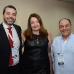 Edmison Romão, da Abav-SP, Magda Nassar, da Braztoa, e Geraldo Rocha, da Abav Nacional