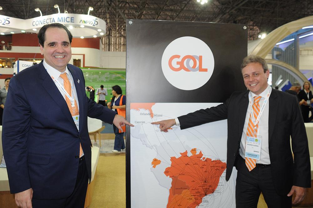 Eduardo Bernardes, VP de Vendas e Marketing, e Rogerio Guerra, diretor Comercial da Gol