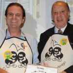 Eduardo Paes, candidato a governador do RJ, com Michel Tuma Ness, foi homenageado pelo Clube do Feijão Amito