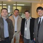 Fábio Tavares, da Big Travel, Serafim Oliveira, da Kompleta Viagens e Charles Franken, da Casa do Agente, com Ignacio Palacios, da MSC