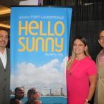 Fernando Harb, Caitlan Etchevers e Gabriel Martinez, de Fort Lauderdale CVB