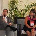 Fernando Harb, de Fort Lauderdale, e Vicki Jaramillo, do Aeroporto de Orlando