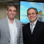 Fernando Santos, da Aviesp, e Carlos Palmeira, da Abav-AL