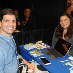 Geraldo Chagas, da Rhema Prime, e Erica Valbuena, do Atlantis Paradise Resort Bahamas