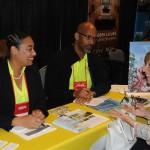 Giovanni Grant e Raquel Carey, de Bahamas, tem um dia inteiro de appointments com os buyers da América Latina