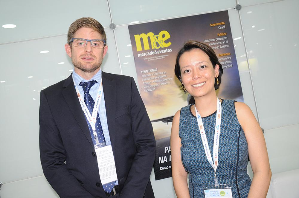 Gonzaro Romero e Claudia Shishido, da Air Europa
