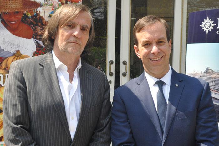 Jean-Philippe Perol, diretor da Cap Amazon e Adrian Ursilli, diretor geral da MSC no Brasil