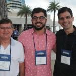 Jovair Silva e Lucas Queiros, da Dot Travel, e Geraldo Chagas, da Rhema Prime Viagens