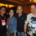 Juan Carlos, da TravelCompositor, Dymary Oyala, do Holiday Inn St. Pete, Shadi Cbaaban, de Lina Tour Panama, Luis Calle, CEO da Camar