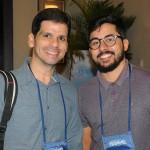 Lucas Queiros, da Dot Travel, e Geraldo Chagas, da Rhema Prime Viagens