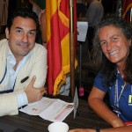 Luis Aguilar, da zNet, e Mari Masgrau, do M&E