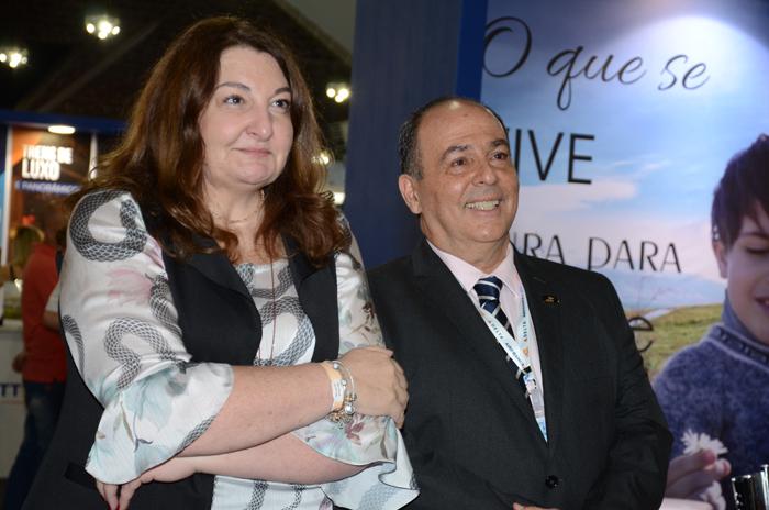Magda Nassar, presidente da Braztoa, e Geraldo Rocha, presidente da Abav Nacional