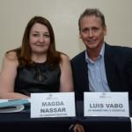 Magda Nassar, presidente da Braztoa, e Luis Vabo, VP de Marketing e Eventos da Abav Nacional