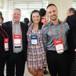 Miriam Silva, Eduardo Bittencourt e Rafael Guimarães, da CH Travel, Giovana Paulineli, da Orinter Tour, e Rafaella Brown, do Visit Florida